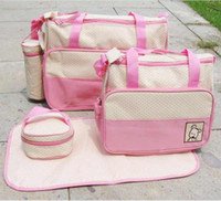 PVC baby diaper totes - fashionable and pretty PC Set Multi Function Super Large Baby Diaper Tote Shoulder Bag