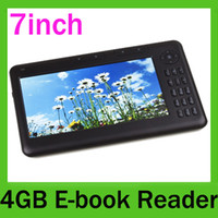 Wholesale 7 Inch TFT E BOOKS E READER ebook PDF TXT MP3 WMA RMVB GB Digital Electronic PC