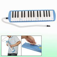 Wholesale Rabbit Printed Rectangular Blue Plastic Key Melodica
