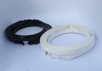 Wholesale 120X Hairbands Tone Craft Blank Plain quot with Teeth White amp Black Plastic headband Drop Shipping