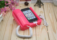Wholesale Retro Anti radiation Phone X Phone Plug in Station Handset for iphone G GS S Receiver