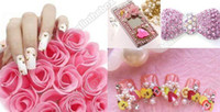 Nail Art 3D Decoration Nail Art Dried Flowers 5.9cm 6 Wheel Mixed Nail Art Tips Rhinestone Slice Decorationnatural or artificial nails #955