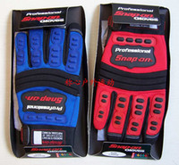 Wholesale Snap on Professional Automotive Super Grip Work Mechanic Motorcycle Bike Gloves Five Colors