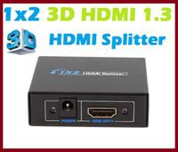 amplifiers hdmi splitter - 10PCS A New x2 D HDMI Splitter Amplifier For HDTV retail and show site HDTV STB DVD