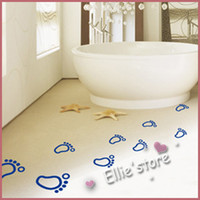 Wholesale Footprints decorative sticker lovely cartoon wall stickers kids wall decal