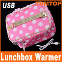 Wholesale USB Lunchbox Bento Box Warming Heating Bag With Keeping Food Warmer H4965