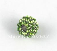 Wholesale 10PCS Light Green Hip Hop Rhinestone Beads x10mm