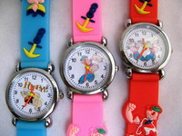 assorted gift tags - Assorted Popeye Sesame Street Classic Cartoon Children Favorite Watch D Strap Watches X mas Gift