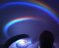 Wholesale New Style Romantic LED Rainbow Projector Color Night Lamp Light toy2011