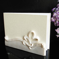 Wholesale Snow White Wedding Favor Guestbook Attendance Book Pages