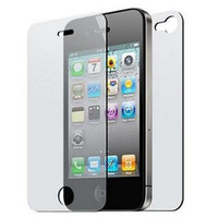 add guard - clear glossy Screen Protector Guard full body Front back for iphone S add retail package
