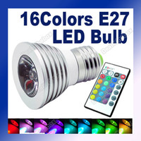 Wholesale E27 W Color RGB Aluminum LED Light Lamp Bulb V Remote Control Plastic