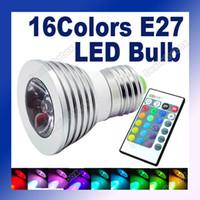 led color bulb - E27 W Color RGB Aluminum LED Light Lamp Bulb V Remote Control Adeal