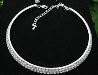 South Korea design women 2 Rows Choker Necklace Bride' s...
