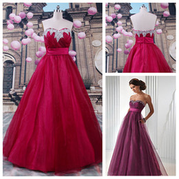 Wholesale In Stock Picture Color Strapless Charming A line Prom Dresses Full Length Chic Beads Evening Dress