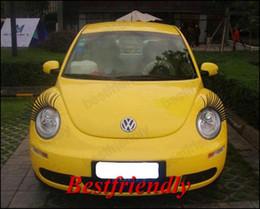 110PCS=55Pairs Automotive Eyelashes Car Eye Lashes Eyelash 3D Car Logo Sticker Eyelash Eye-lashes