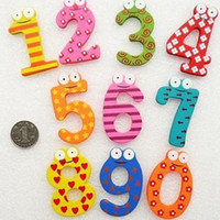 Wholesale Hot selling Novelty Children s creative gifts toys wooden magnetic stickers wooden digital figure