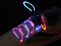 Wholesale Fashion shoe lace light up LED flashing flash shining shoelace shoelaces shoe lace bootlace