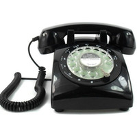 Wholesale Vintage s Classic Rotary Dial Telephone Old Style Fashioned Desk Telephone Black