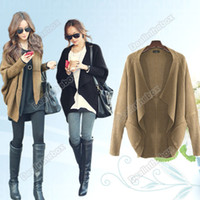 Wholesale Lady s Women s Batwing Cape Poncho Knit Top Cardigan Sweater