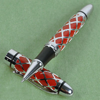 Wholesale JINHAO RED AND SILVER ROLLER BALL PEN WITH TIGER CARVED FOR TIGER YEAR COMMEMORLATE