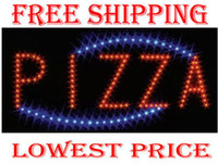 Wholesale 19 quot x10 quot Led open sign light DIY Your store Neon Night business open Pizza shop support mix item