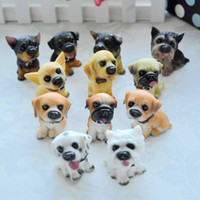 Wholesale Household Partition Ornaments Famous Dogs Resin Dog Model Figures Dolls Toys Car Accessories