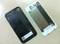 Wholesale Glass Back Battery Cover Housing Assembly for iphone WHITE BLACK