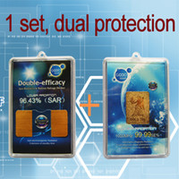 Wholesale K Gold Plated Anti radiation amp Double Efficacy Cellphone Cell Phone Sticker Set