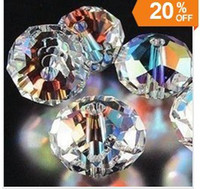 Wholesale 5040 Roundle mm Crystal AB Crystal beads