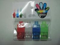 Wholesale 2000Pcs Lighting finger LED light laser finger beam finger ring laser lights colors with opp bag