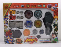 Wholesale New Arrived Super Top Metal Beyblade Spinning Tops Toys With Four Beyblade One Handle