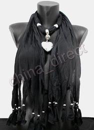 Plain Solid color Pendant Scarf Neck Scarves jewelry NECKLACE PENDANTSCARF 14pcs lot #1738