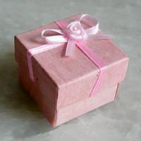 beautiful gift paper box - 24pcs hot new nice gift Beautiful fashion Jewelry ring earring pendant paper box Random color