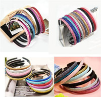 Wholesale Shiny Powder Acrylic Headband Mix Hairband Hair Jewelry Ornaments Hair Accessories For Girl s