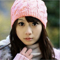 Wholesale NEW WOMEN S KNIT CROCHET BRAIDED BEANIE HAT CAP MIXED COLORS