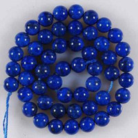 Wholesale 8mm Blue Egyptian Lazuli Lapis Gemstone Loose Bead
