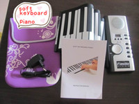 Roll Up keyboard piano - Piano Flexible Roll Up Electronic Digital keys Keyboard Piano Soft Portable with MIDI Instruments