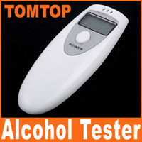 White alcohol breathalyzer - Digital alcohol breathalyzer breath tester analyzer LCD H39 white