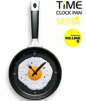 Digital novelty clocks - Hot Novelty clock Creative wall clocks fried eggs pan shaped wall clock different colors to choose