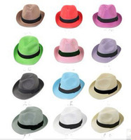 Wholesale 30 OFF Womens Fedoras Fedora Hats Straw Hats Colors Mixed