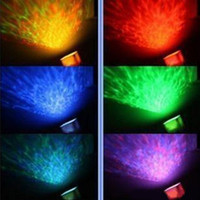 Wholesale 100 New Blue LED light Relaxing Ocean Projector Pot amp Speaker rd generations toy2011
