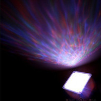 Wholesale New Style Blue LED light Relaxing Ocean Projector Pot amp Speaker rd generations toy2011