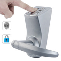 Wholesale Power Saving Waterproof Fingerprint Security Door Lock Mechanical Keys Reversible handle