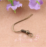 Wholesale CCL Jewelry Findings bronze color metal earring hooks mm