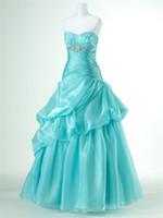 Ball Gown Classic Beads 2012 new arrival drop waist organza aqua pink orange prom dresses evening gown party dress LP280