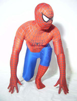 Wholesale Cartoon mascot costumes Clothing Adult Child Superman Spider man Cartoon Costume tights