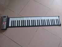 Wholesale 61 keys flexible electronic piano roll up soft keyboard with MIDI synthesizer portable instrument