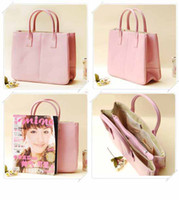 Wholesale Faux Leather Women s Tote Shoulder Bags Handbag Red Dark Brown Pastel Pink Beige colors