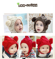 Winter free crochet baby hat patterns - Pieces Baby Crochet Hat Children Knitted Cap Girls Knitting Beanie Smile Pattern Earflap Balls